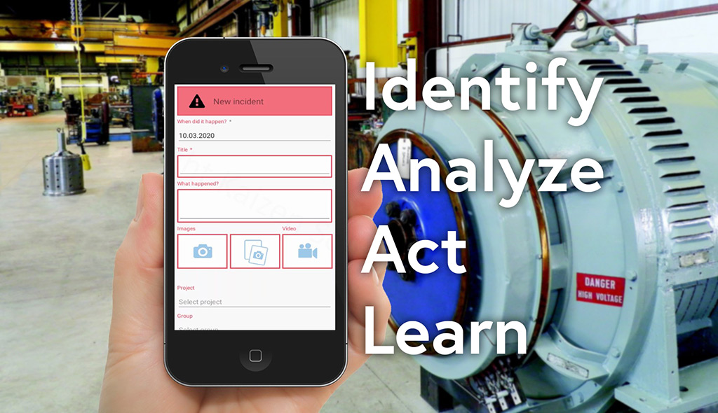 Incident can be reported on the go using the dedicated mobile app